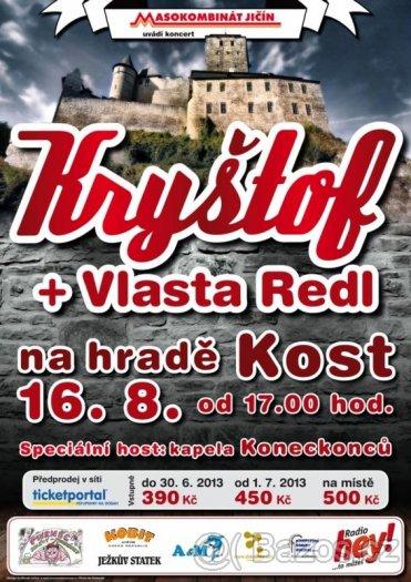 Skvělá hudba rozezvučí hrad Kost. Hvězdou večera bude Kryštof!